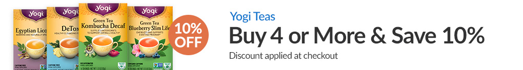 YOGI TEAS: BUY 4 & SAVE 10% - Discount Applied At Checkout
