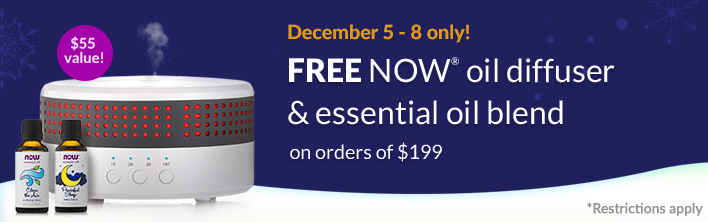 December 5 - 8 only: FREE NOW® oil diffuser & essential oil blend on orders of $199. Rectrictions Apply.