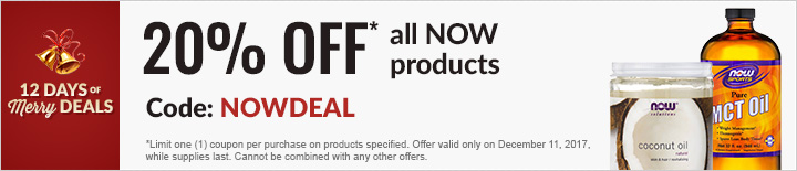 20% OFF All NOW Products