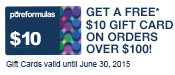 Ends 4/30/15. Not combinable with any other offers. Gift cards valid until June 30th, 2015.