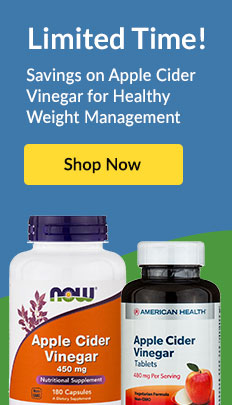 Limited Time! Savings on Apple Cider Vinegar for Healthy Weight Management. SHOP NOW!