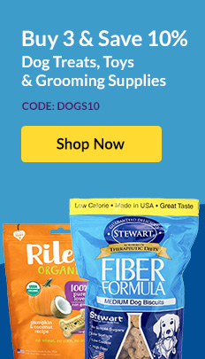 Buy 3 & Save 10% Dog Treats, Toys & Grooming Supplies - Code: DOGS10