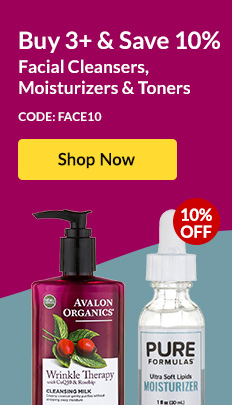 Buy 3+ & Save 10% Facial Cleansers, Moisturizers & Toners - Code: FACE10