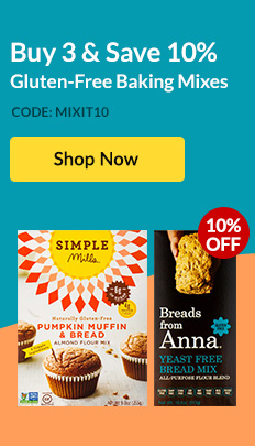 Buy 3 & Save 10%: Gluten-Free Baking Mixes. Code: MIXIT10. SHOP NOW!
