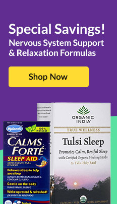 Special Savings: Nervous System Support & Relaxation Formulas. SHOP NOW!