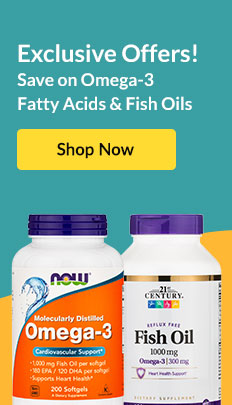 Exclusive Offers! Save on Omega-3 Fatty Acids & Fish Oils. SHOP NOW!