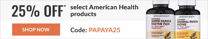 25% off* select American Health products