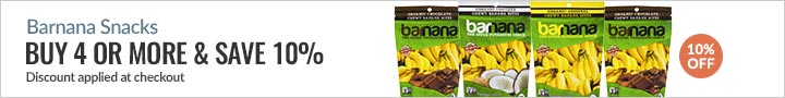 Barnana Snacks - Buy 4 or more & save 10%.