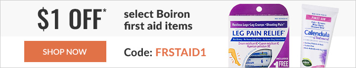 $1 off* select Boiron items