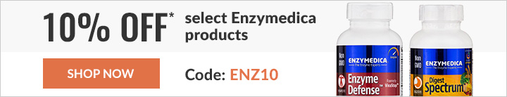 10% off* select Enzymedica products