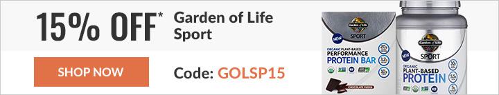 15% OFF GARDEN OF LIFE SPORT