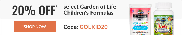 20% off* select Garden of Life products