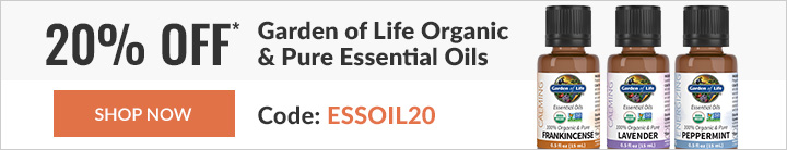 20% off* select Garden of Life items
