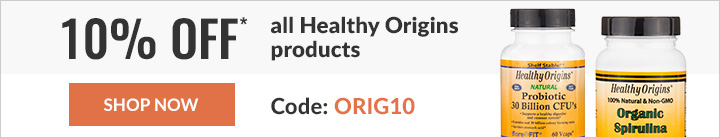 10% off* all Healthy Origins products