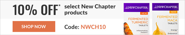 10% off* select New Chapter products