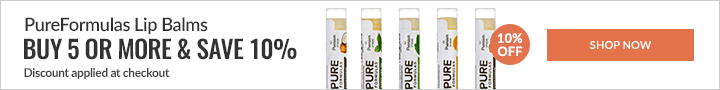 PureFormulas Lip Balms - Buy 5 or more & save 10%