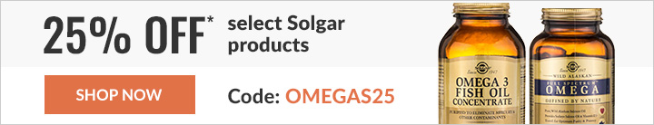 25% off* select Solgar products