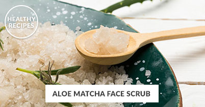 Healthy Recipes - Aloe Matcha Face Scrub