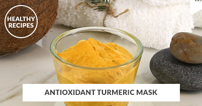 Healthy Recipes - Antioxidant Turmeric Mask