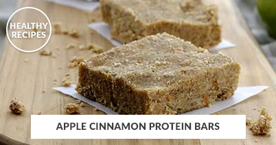 Healthy Recipes - Apple Cinnamon Protein Bars