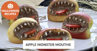 Halloween Recipe Favorites: Apple Monster Mouths