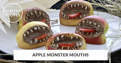 Healthy Recipes - Apple Monster Mouth