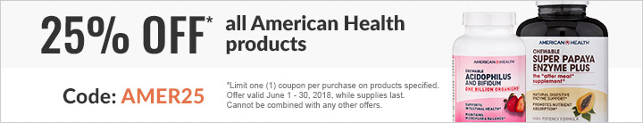 25% off American Health