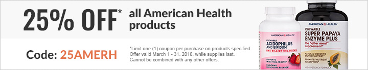 25% ALL AMERICAN HEALTH SUPPLEMENTS