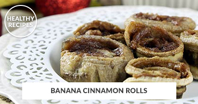 Healthy Recipes - Banana Cinnamon Rolls