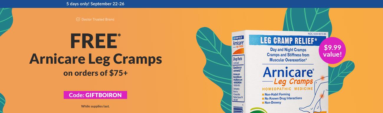 Free Arnicare Leg Cramps on orders of $75+