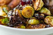 Balsamic Brussels Sprouts & Cranberries