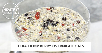 Healthy Recipes - Chia-Hemp Berry Overnight Oats