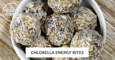 Healthy Recipes - Chlorella Energy Bites