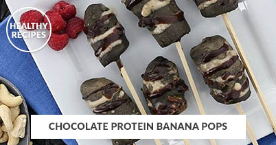 Healthy Recipes - Chocolate Protein Banana Pops