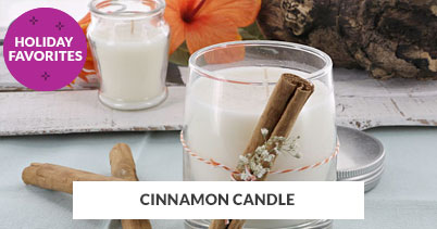 Holiday Recipe Favorites: Cinnamon Candle
