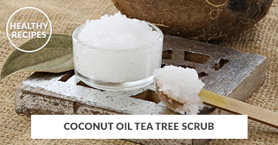 Healthy Recipes - Coconut Oil Tea Tree Scrub