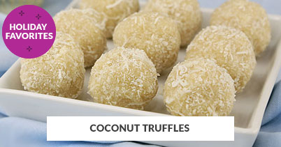 Holiday Recipe Favorites: Coconut Truffles
