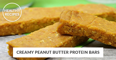 Healthy Recipes - Creamy Peanut Protein Bars