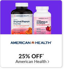 25% off* all American Health products - Code: CYBERAH