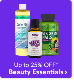 Up to 25% off* Beauty Essentials