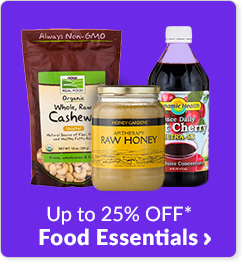 Up to 25% off* Food Essentials