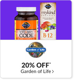 20% off* all Garden of Life products - Code: CYBERGOL