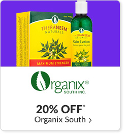 20% off* all Organix South products - Code: CYBEROS