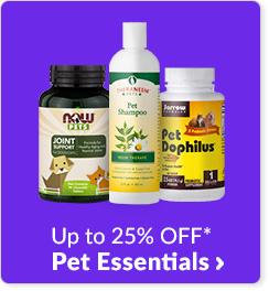 Up to 25% off* Pet Essentials