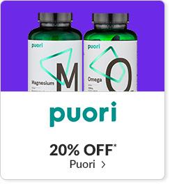 20% off* all Puori products - Code: CYBERPU