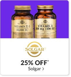 25% off* all Solgar products - Code: CYBERSLG