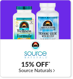 15% off* all Source Naturals products - Code: CYBERSN