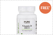 FREE Bottle of Vitamin D 1000 IU - 100 Tablets