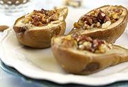 Honey Nut Baked Pears