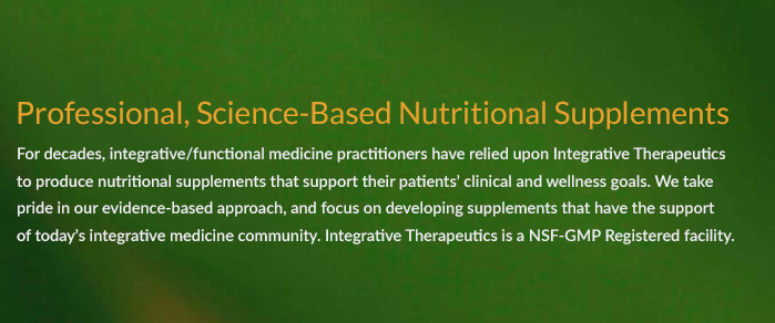 Professional, Science-bsaed nutritional supplements